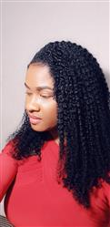 Georgette K. verified customer review of Kinky Curls Clip Ins
