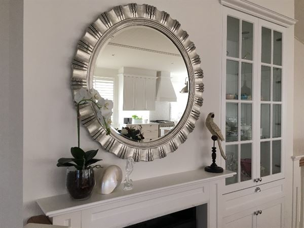 Lorelle H. verified customer review of Brisbane Silver Round Wall Mirror DS - 50133
