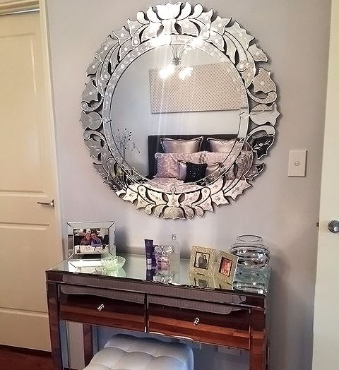 Mariangela D. verified customer review of Ablaze Cienna Decorative Round Wall Mirror TG - ADRF101