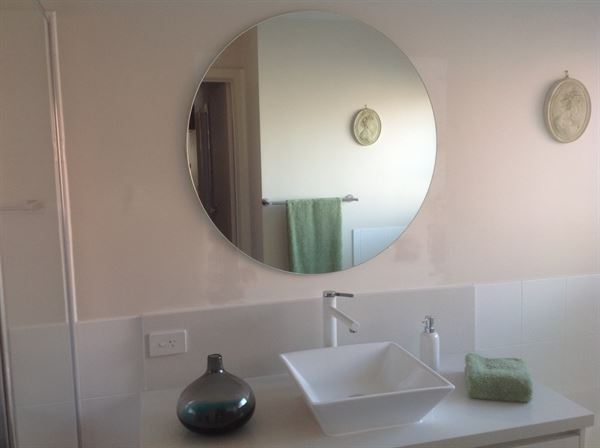 Joyce R. verified customer review of Builder Round Beveled Bathroom Mirror