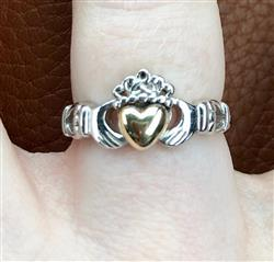 Kathryn G. verified customer review of Womens Claddagh Ring Sterling Silver & 10K Gold