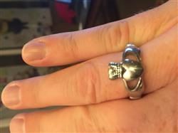 Shayne B. verified customer review of Claddagh Ring Mens Stainless Steel Sz 9-13 Irish Made