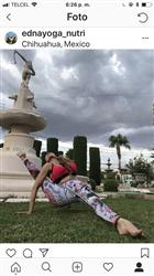 Edna C. verified customer review of Coral My Name Yoga Leggings