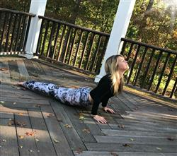 Bethany L. verified customer review of Dragonfly Orchid Yoga Leggings- FINAL SALE
