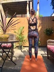 Lauren C. verified customer review of Festival Denim Yoga Leggings