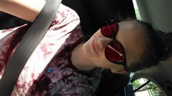 Taylar B. verified customer review of Magenta Lens / Aero Matte Black Frame