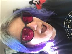 Emily W. verified customer review of Magenta Lens / Aero Matte Black Frame