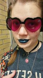 Rebecca N. verified customer review of Magenta Lens / Heart Frame