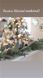 Monica J. verified customer review of Artificial California Eucalyptus Garland - 6' Long