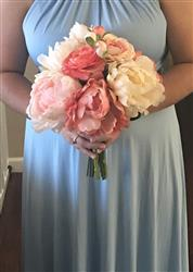 Natalie verified customer review of Blush Coral Silk Peony and Ranunculus Bouquet - 13 Tall