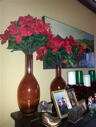 Tigh M. verified customer review of Outdoor Water Resistant Artificial Poinsettia Bush in Red - 15 Tall