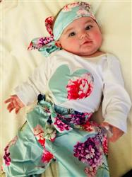 Jacklyn F. verified customer review of Long Sleeve Top, Flower Print Pants and Headband 3-piece Set