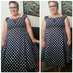 Niina L. verified customer review of Dolores Doll Blue Polka Dot 50-luvun mekko