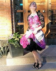Tanja verified customer review of Purple Rose Floral Border Juhlamekko