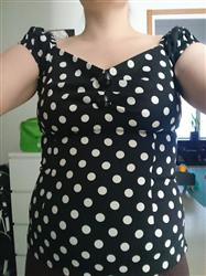 Carita M. verified customer review of Dolores Black Polka Top