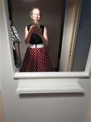 Noora Jäppinen  verified customer review of Wine Red Polka Dot Swing Skirt Kellohame