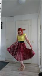 Eveliina F. verified customer review of Wine Red Polka Dot Swing Skirt Kellohame