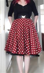 Henna K. verified customer review of Wine Red Polka Dot Swing Skirt Kellohame