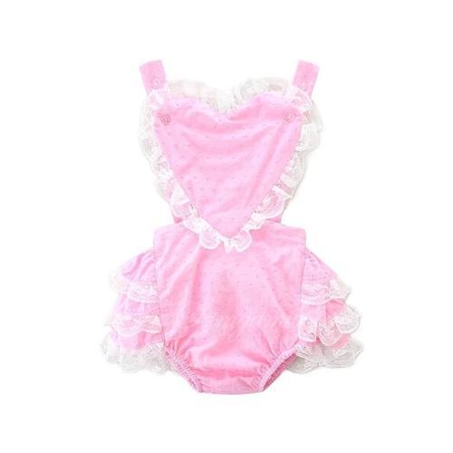 Spring Love romper in pink
