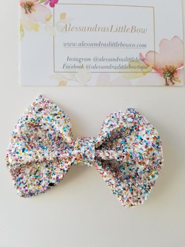 Funfetti small statement bow