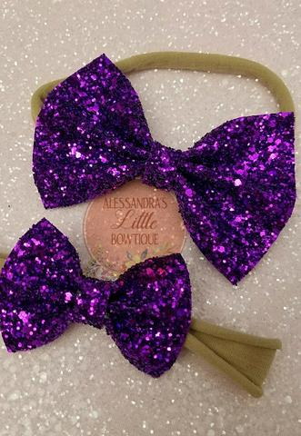 Fairy purple statement bow