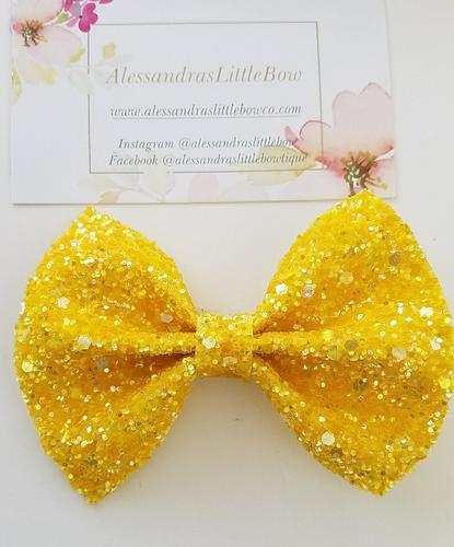 Yellow statement bow