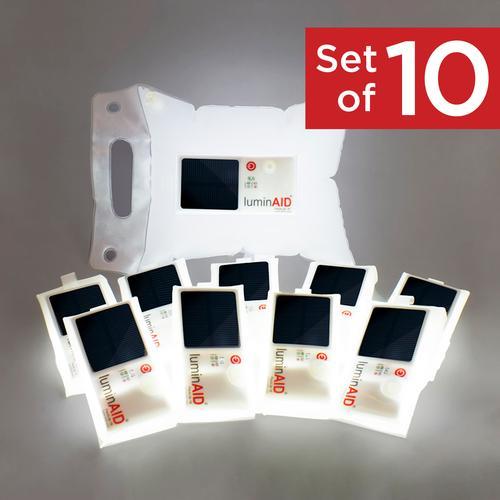 Set of 10 LuminAID PackLite 16 Lights