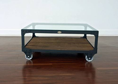 Industrial Coffee Table - Railroad Junction Cart Table