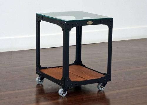 Industrial End Table - Powerhouse Tool Trolley