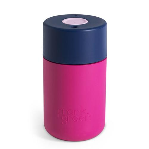 FRANK GREEN Original Smart Coffee Cup 12oz / 340ml  - Hot Pink/Navy/Pink Blush
