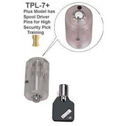 Clear Practice Tubular Lock - Spool Pin Version