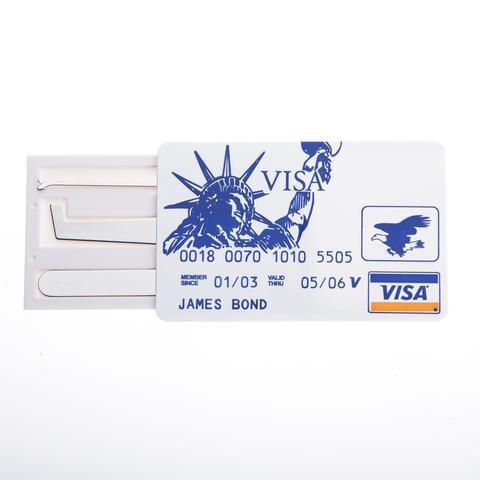 Credit Card Wallet Lock Pick Set: James Bond / Spy Set
