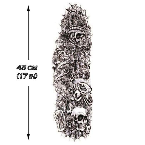 B&W Skulls Sleeve 1