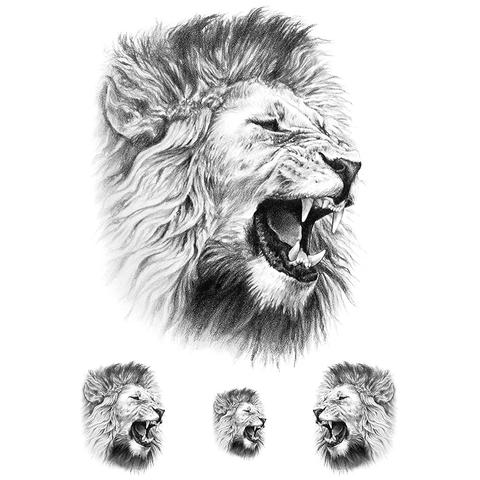 Realistic Roar Of The Lion (4 pieces)