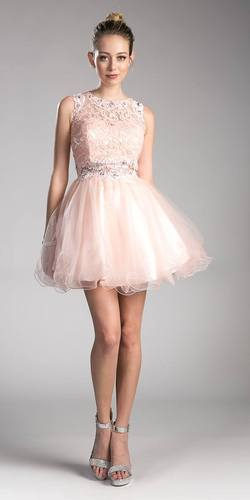 Burgundy Lace Beaded Short Homecoming Dress Sleeveless