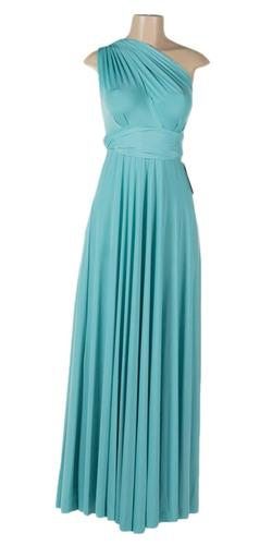 Long Aqua Convertible Jersey Dress 20 Different Looks