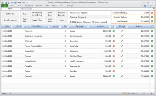 excel checkbook register spreadsheet buy excel templates