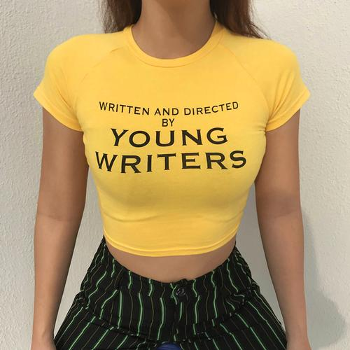 """""""YOUNG WRITERS"""" CROP TOP"""