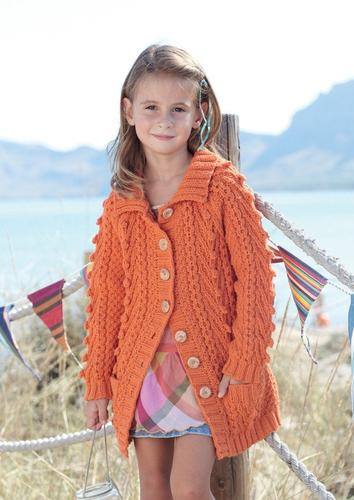 Girls Cable Jacket in Sirdar Supersoft Aran (2453) - Digital Version 82796e0a5