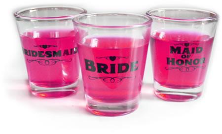 Bridesmaid Shot Glass, 1 pc clear