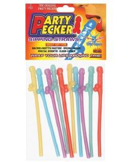 Wild Colored Pecker Straws, 12 pk