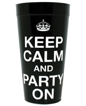 Keep Calm and Party On! cup, 1 pc
