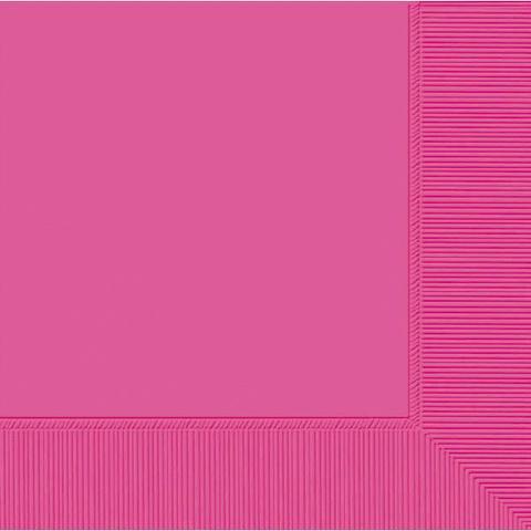 Dark Pink beverage napkins, 20 ct