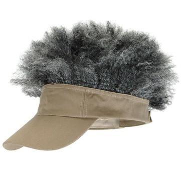 Afro Visor, Tan w/ grey hair