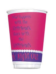 Girls Night Out Cups, 16 oz. 8pk