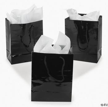 Black Favor Bags, 12 pk