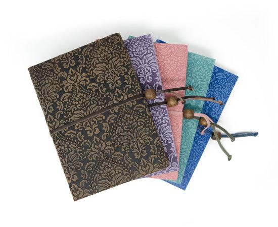 Barocco Suede Notebook - Aqua Marina