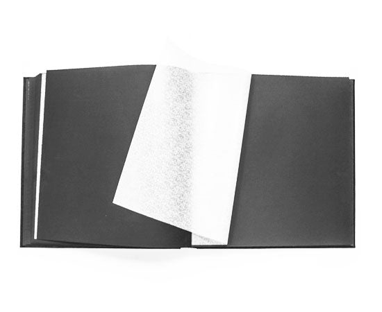Extra-Lg Black Leather Photo Album, Lined In Black Silk, Black Pages 18x18