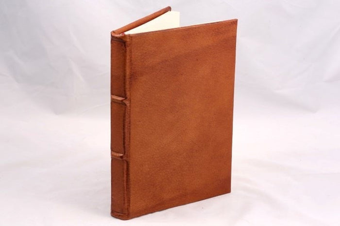 Colorful Handmade Leather Journal - camel
