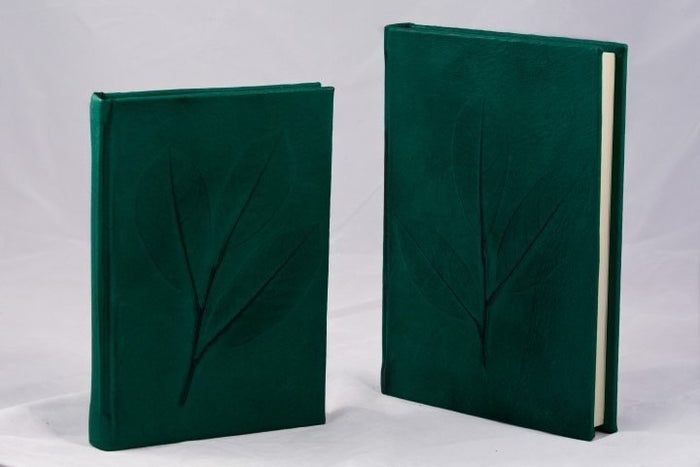 Nature Inspired Handmade Leather Journal - green